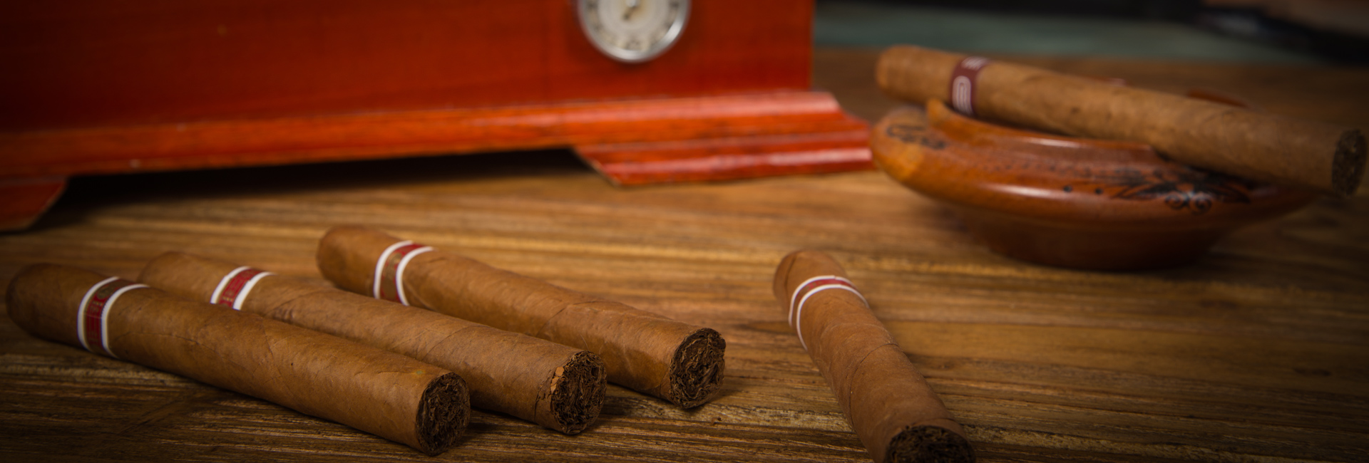 Multiple Cigars With Humidor